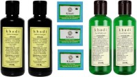 Khadi Herbal Combo- Shampoo, Soap & Face Wash (Set Of 7)