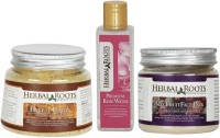 Herbal Roots Anti Tan Facial Kit - Ubtan, Mix Fruit Pack And Rose Water (Set Of 3)