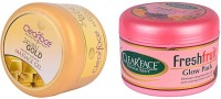 Clear Face 24 Carat Gold Dust Almond Oil Massage Gel With Fresh Fruit Glow Pack (Set Of 2)
