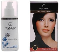 Oxyglow Intensive Moisturizing Lotion & Hair Colour Cream-Black (Set Of 2)