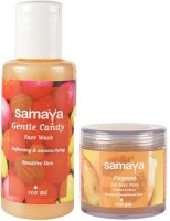 Samaya Gentle Candy Face Wash And Papaya Face Pack Combo (Set Of 2)