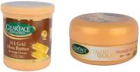 Clear Face 24K Gold Shea Butter Massage Cream With 24 Carat Gold Massage Gel (Set Of 2)