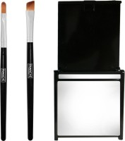 PANACHE Smokey Eye Makeup Combo - Eye Shadow Brush Shader, Eye Shadow Brush Angular & Compact Mirror Chic (Set Of 3)