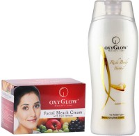 Oxyglow Facial Bleach Cream With Fruit Extracts & Rich Body Butter (Set Of 2)