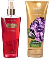 Victoria's Secret Pure Seduction Mist 250ml And Love Spell Conditioner 300ml Combo (Set Of 2)