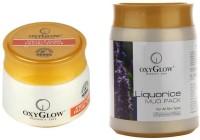 Oxyglow Apricot & Jojoba Facial Scrub & Liquorice Mud Pack (Set Of 2)