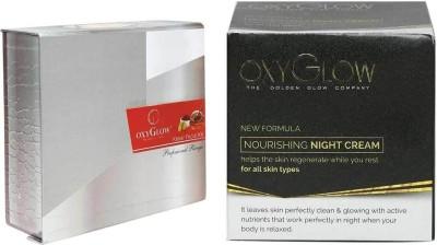 Oxyglow Combos and Kits Oxyglow Kesar Fairness Glow Facial Kit & Nourishing Night Cream