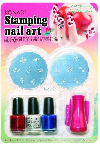 Buy Konad Stamping Nail Art Kit Set C Set Of 7 1100 By Konad