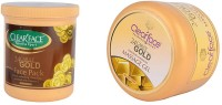 Clear Face 24 Carat Gold Face Pack With 24 Carat Gold Dust Almond Oil Massage Gel (Set Of 2)