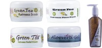 Adidev Herbals Ayurvedic Skin Brightening Green Tea Fairness Face Pack (Set Of 5)