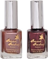 Anna Andre Paris Nail Polish - Chocolate Truffle Duo Set (Set Of 2)