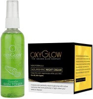 Oxyglow Cucumber Skin Toner & Nourishing Night Cream (Set Of 2)