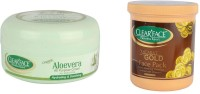 Clear Face Aloevera Cream (All Purpose) With 24 Carat Gold Face Pack (Set Of 2)