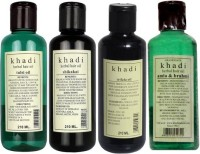 Khadi Natural Hair Oils Combo(Without Mineral Water) (Set Of 4)