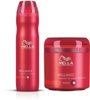 Wella Combos For Professional Brilliance Shampoo And Treatment Mask For Coloured Hair 250 Ml (Set Of 2)