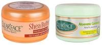 Clear Face Shea Butter Moisturising Cream With Aloevera Cucumber Multi Purpose Facial Cream (Set Of 2)