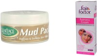 Clear Face Mud Pack Refines & Softness Skin Texture With Fairness Cream With Multivitamin (Set Of 2)