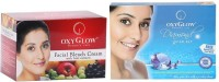 Oxyglow Facial Bleach Cream With Fruit Extracts & Diamond Facial Kit (Set Of 2)
