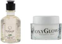 Oxyglow Bhringaraj Regrowth & Revitalising Hair Oil & Almond Under Eye Repair Care (Set Of 2)