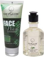 Oxyglow Neem & Tulsi Face Wash & Bhringaraj Regrowth & Revitalising Hair Oil (Set Of 2)