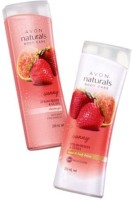 Avon Naturals Strawberry And Guava Shower Gel And Body Lotion (Set Of 2)
