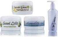 Adidev Herbals Herbal Skin Brightening Sweet Lime Fairness Pack (Set Of 4)