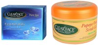 Clear Face Diamond Facial Kit With Papaya Orange Scrub Gel (Set Of 2)