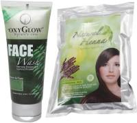 Oxyglow Neem & Tulsi Face Wash & Natural Heena (Set Of 2)