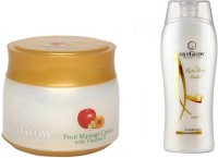 Oxyglow Fruit Massage Cream With Vitamin-E & Rich Body Butter (Set Of 2)