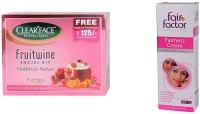 Clear Face Fruit Wine Facial Kit & Fairness Cream (Set Of 2)