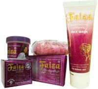 Faiza Beauty Cream, Whitening Soap & Face Wash (Set Of 3)