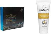 Oxyglow Golden Glow Flawless Daimon Facial Kit & Honey & Papaya Enzyme Scrub Pack 100gm (Set Of 2)