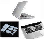 Pindia Transparent Crystal Finish Apple Macbook Pro 13 13.3 inch Md101hn/A Md101ll/A Hard Case Shell Cover Anti Dust Ports Keyboard