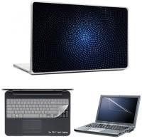 Skin Yard Super Three Dimensional Blue Background Laptop Skins With Laptop Screen Guard & Laptop Keyguard -15.6 Inch Combo Set