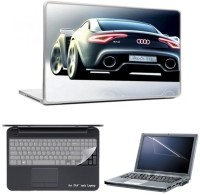 Skin Yard Audi R12 Laptop Skin With Laptop Screen Guard And Laptop Key Guard -15.6 Inch Combo Set