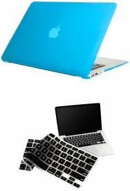 Pindia Apple Aqua Blue Matte Finish Apple Macbook Air 11 11.6 inch Md223Hn/A & Md223Ll/A Hard Case Shell Cover Black Keyboard Combo Set