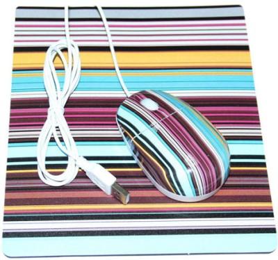 KolorFish M22 USB Mouse and Mouse Pad