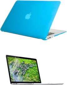 Pindia Apple Aqua Blue Matte Finish Apple Macbook Air 11 11.6 inch Mc506Hn/A & Mc506Ll/A Hard Case Shell Cover Screen Guard Combo Set