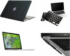 Pindia Apple Black Matte Finish Apple Macbook Air 11 11.6 inch Md712Hn/A & Md712Ll/A Hard Case Shell Cover Anti Dust Ports Keyboard Screen Guard Combo Set