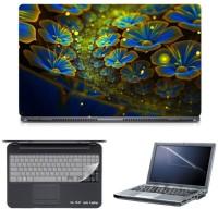 Skin Yard Big Glowing Flower Laptop Skin With Screen Protector & Keyboard Skin -15.6 Inch Combo Set