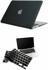 Pindia Apple Black Matte Finish Apple Macbook Air 11 11.6 inch Mc505Hn/A & Mc505Ll/A Hard Case Shell Cover Keyboard Combo Set