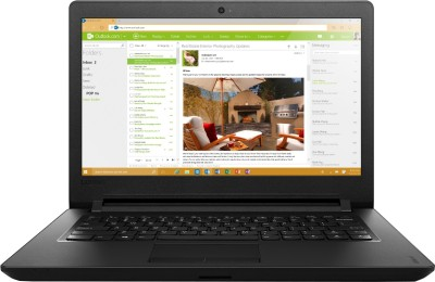 Lenovo Ideapad 100 Pentium Quad Core - (4 GB/500 GB HDD) Notebook 80T6003WIH (14 inch, Black, 1.6 kg)