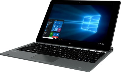 Micromax Canvas Wi-Fi LT666W LT666W Intel Atom Quad Core - (2 GB DDR3/32 GB EMMC HDD/Windows 10) 2 in 1 Laptop (10.1 inch, Grey & Black)