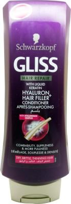 Schwarzkopf Gliss Hyaluron Hair Filler Express Repair Conditioner With Liquid Keratin