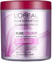 Loreal Hair Expertise Pure Colour Dazzling Refreshing Mask (200 Ml)