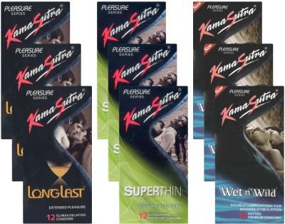 Kamasutra Longlast, Superthin, Wet n Wild UPFK200402