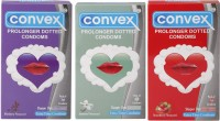 Convex Monthly Pack Combo Prolonger Blueberry, Strawberry, Jasmin (Set Of 3 30S) Condom (Set Of 3, 30S)