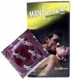 Manforce BANANA FLAVOURED EXTRA DOTTED 10PCS X 10