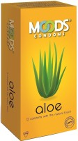 Moods Aloe Ribbs And Dotted Goodness Of Aloe Vera Feel The Goodness Condom (Set Of 1, 12S)