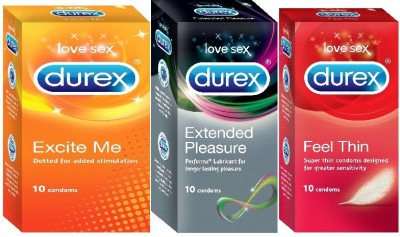 Durex Feel Thin, Excite Me, Extended Pleasure